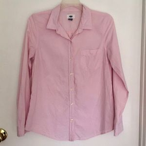 Old Navy pink cotton button down